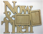 "Now & Then 1/8"" Birch Wood Frame"