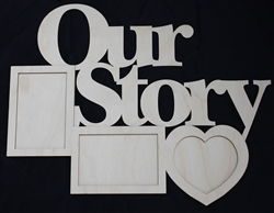"Our Story 1/8"" Birch Wood Frame"