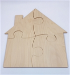 Puzzle Wood House 4pc