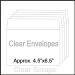 "Clear Envelopes 4.5""x6.5"" 20 Pack"