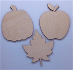 Wood Fall Collection shapes 3 pack