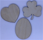Wood Spring Collection shapes 3 pack