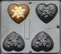 015 Heart Angels Soap or Chocolate Candy Mold