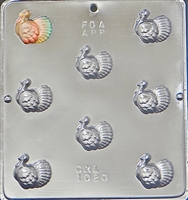1020 Turkey Bite Size Pieces Chocolate Candy Mold