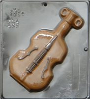 1214 Violin Chocolate Candy Mold