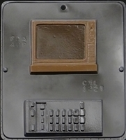 1221 TV & Remote Chocolate Candy Mold