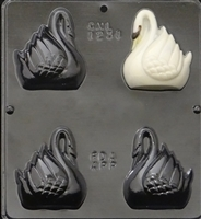 1231 Swan Assembly Chocolate Candy Mold