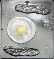 1240 Bacon & Eggs Chocolate Candy Mold