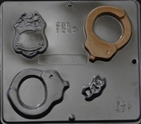 1245 Police Assortment Chocolate Candy Mold