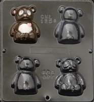 1254 Panda Bear Assembly Chocolate Candy Mold