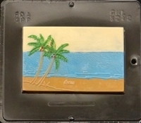 1272 Beach Island Paradise Card Chocolate Candy Mold