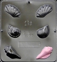 1289 Sea Shells Assembly Chocolate Candy Mold