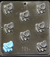 1334 Baby Elephant Bite Size Chocolate Candy Mold