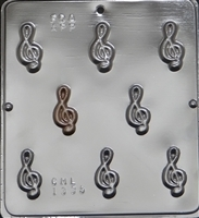 1335 G Clef Musical Note Bite Size Chocolate Candy Mold