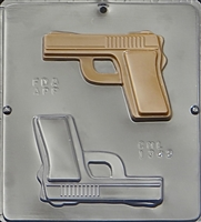 1342 Handgun Semi-Automatic Chocolate Candy Mold