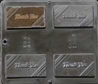 1502 Thank You Chocolate Candy Mold