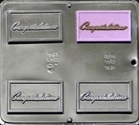 1507 Congratulations Chocolate Candy Mold
