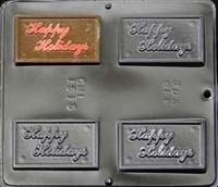 1515  Happy Holidays Chocolate Candy Mold