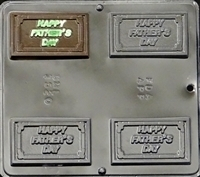 1520 Happy Father's Day Chocolate Candy Mold