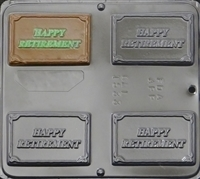 1533 Happy Retirement Chocolate Candy Mold