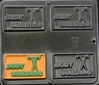 1562 Body Building Chocolate Candy Mold