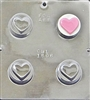 1606 Heart Oreo Cookie Chocolate Candy Mold