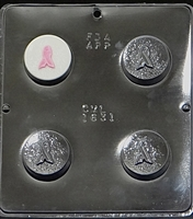 1631 Cancer Awareness Oreo Cookie Chocolate Candy Mold