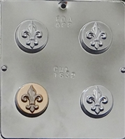 1632 Fleur De Lis Oreo Cookie Chocolate Candy Mold
