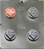 1644 Love Heart Oreo Cookie Chocolate Candy Mold