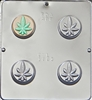 1661 Marijuana Leaf Pot Oreo Cookie Chocolate Candy Mold