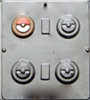 1686 Pokemon Ball Oreo Cookie Chocolate Candy Mold