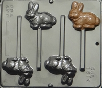 1814 Rabbit Pop Lollipop Chocolate Candy Mold
