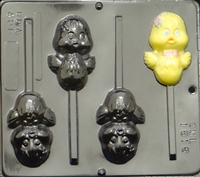 1818 Chickey Pop Lollipop Chocolate Candy Mold