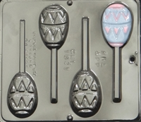 1821 Flat Easter Egg Lollipop Chocolate Candy Mold