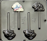 1822 Bunny Pop Lollipop Chocolate Candy Mold