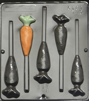 1825 Carrot Pop Lollipop Chocolate Candy Mold