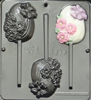 1826 Fancy Egg Lollipop Chocolate Candy Mold