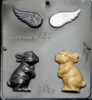 1829 Angel Bunny Assembly Chocolate Candy Mold