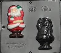 2003 Santa Claus Assembly Chocolate Candy Mold