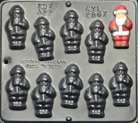 2007 Santa Clause Chocolate Candy Mold