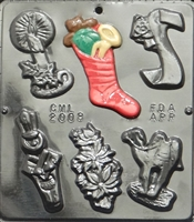 2008 Christmas Assortment chocolate Candy Mold
