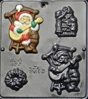 2013 Musical Santa Chocolate Candy Mold