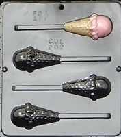 202 Ice-Cream Cone Lollipop Chocolate Candy Mold