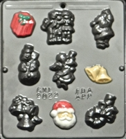 2022 Christmas Assortment Chocolate Candy Mold
