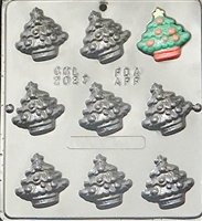 2023 Small Christmas Trees Chocolate Candy Mold