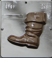 2027 Santa's Boot Facing Left Chocolate Candy Mold