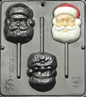 2031 Santa Face Pop Lollipop Chocolate Candy Mold