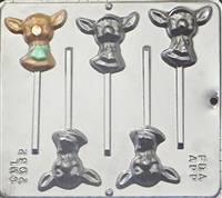 2032 Reindeer Pop Lollipop Chocolate Candy Mold