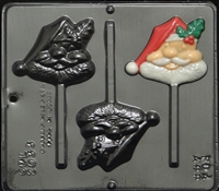 2033 Comic Santa Pop Lollipop Chocolate Candy Mold