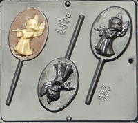 2040 Angel Playing Flute Lollipop Chocolate Candy Mold